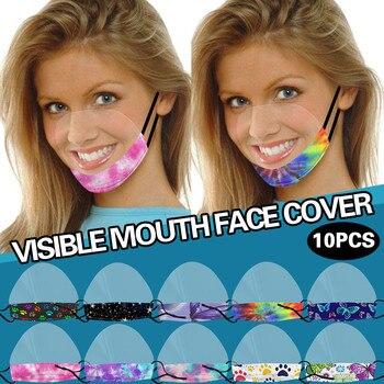 Mascarilla de entrega rápida con vinilo transparente expresión Visible labio Máscara de lectura no tejida