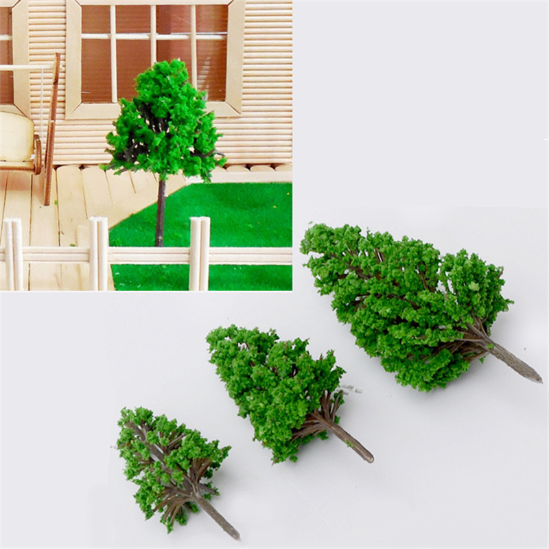NEW 10Pcs/lot Scale Architectural Mini Model Trees Layout Train Landscape Miniatures Tree Building Kits Toy For Kids