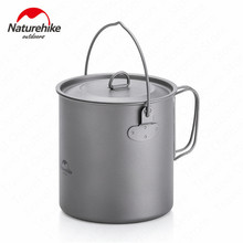 лучшая цена NH18T101-A Multifunction Outdoor Hiking Camping Picnic Tableware Titanium Pot Frying Pan Lightweight Camping Cookware Titanium