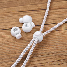 Stopper Cord-Lock Rope-End Us-Stock Buckle-Clip Lanyard Spring-Loaded Plastic Sliding-Button