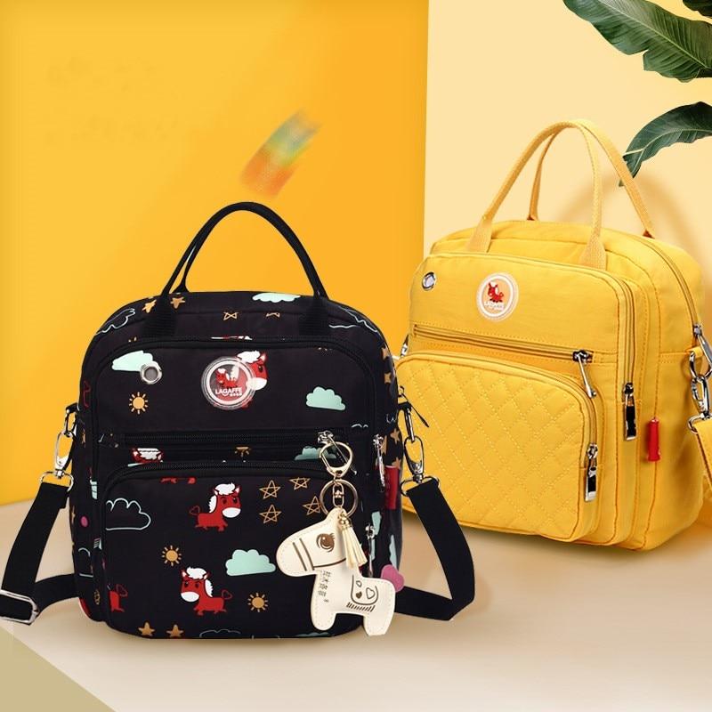 LAGAFFE Diaper Bag Backpack Solid Large Capacity Waterproof Nursing Bag Baby Bag Maternity Bag Handbag For Baby Care Dropship