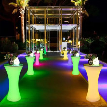 Красочный меняющийся светодиодный светящийся барный стол для ночного клуба освещенная мебель коммерческая мебель принадлежности