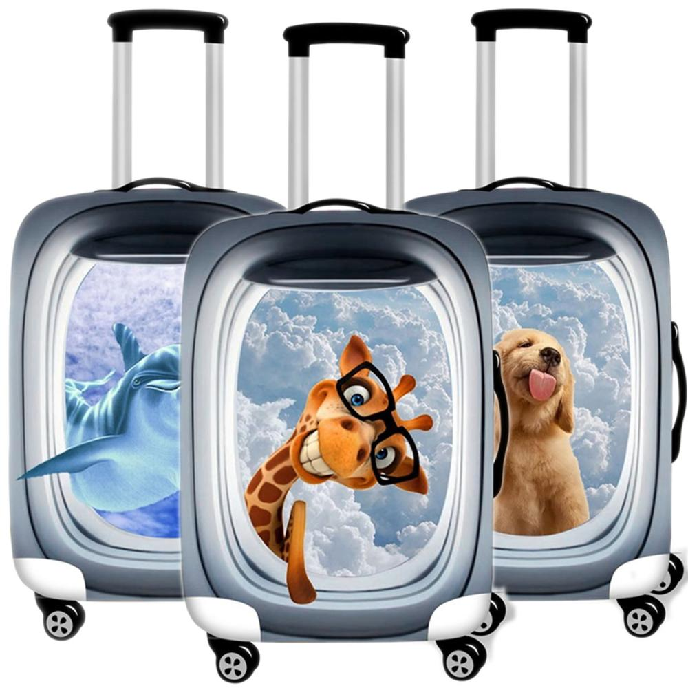 Car-on Suitcase Case Protective Cover Animals Travel Luggage Thicken Dust Cover Accessories Suitcases Organizer 18-32 Inche