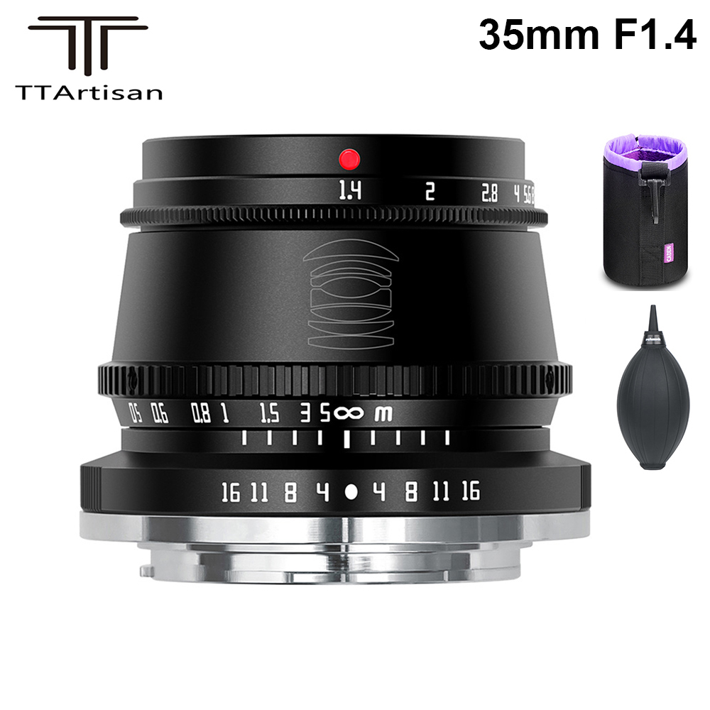 TTArtisan 35 мм F1.4 APS-C ручная фокусировка объектива для Sony байонетное крепление типа Е/Fujifilm M4/3 опоре камеры A9 A7III A6600 A6400 X-T4 X-T3 X-T30