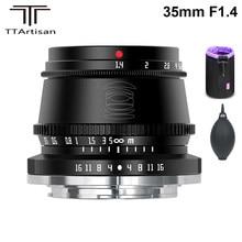 Ttartisan 35mm f1.4 APS-C lente de foco manual para sony e montagem/fujifilm m4/3 montagem câmeras a9 a7iii a6600 a6400 X-T4 X-T3 X-T30