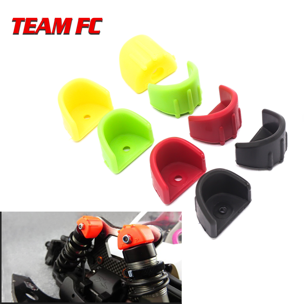 4pc Shock Absorber & Hydraulic Frame Protection Protection Cover Shock Absorption Cap for 1:8 1:10 RC Car Parts Traxxas HSP HPI