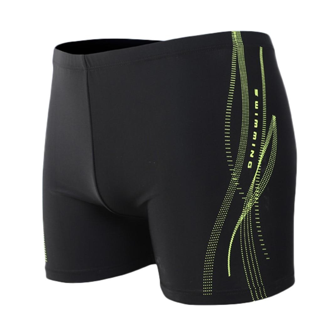 Men's Shorts Swim Trunks Printing Sexy Nylon Breathable Built-In Beam Line Briefs Swimming Trunks Swimming Pants For Men11.15