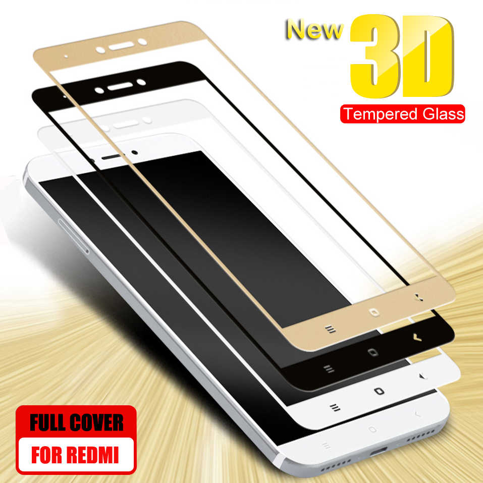 3D Protective Glass on the For Xiaomi Redmi 4A 4X 5A 5 Plus 6 6A 7A Redmi Note 4 4X 5 Pro Tempered Glass Screen Protector Film