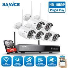 SANNCE 8CH 1080P HDMI WiFi NVR 6PCS 2.0MP IR Outdoor Weatherproof CCTV Wireless IP Camera Security Video Surveillance System Kit цена 2017