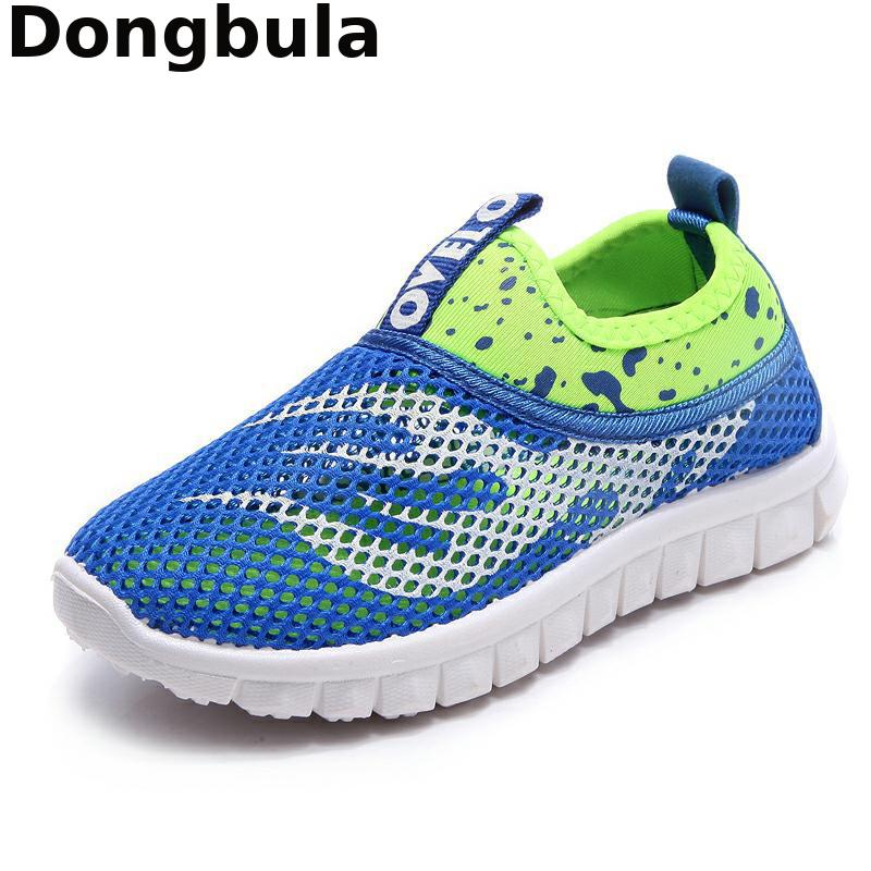 Kids Sneakers For Boys Mesh Breathable Summer Boy Girls Running Shoes Children Sports Shoes Shock Absorption Rubber Sole School