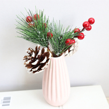 1PC Natural Artificial Plants Berry Pine Needles For Home Christmas Party DIY Garland Wreath Decoration Supplies