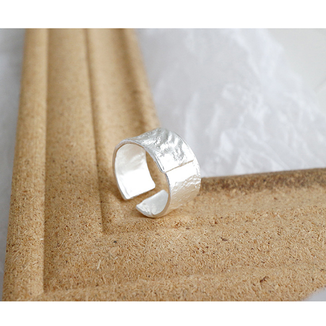 Kinel Genuine 925 Sterling Silver Ring Irregular Original Fashion Korea 14k Gold Jewelry Wedding Party Ladies Ring ring