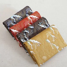 1mx150cm Japanese style and wind clothing bag handmade DIY cloth wave hot stamping powder cotton plain fabric