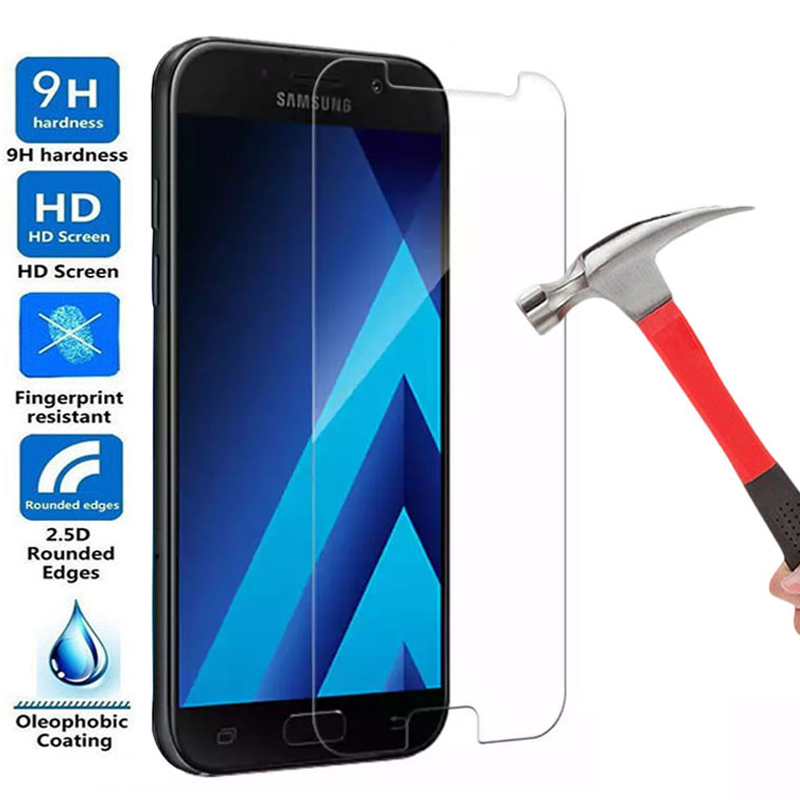 9H Tempered Glass On The For Samsung Galaxy A5 A7 2018 A3 A5 A7 2015 2016 2017 A520 A720 Screen Protector HD Protective Film