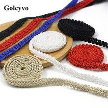 1Meter Colorful Centipede Herringbone Crochet Trims Ribbon Colthing Curtain DIY Sewing Crafts 1cm Width