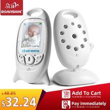 VB601 Video bebek izleme monitörü kablosuz 2.0 LCD çocuk bakıcısı 2 yönlü konuşma gece görüş sıcaklık güvenlik dadı kamera 8 ninniler