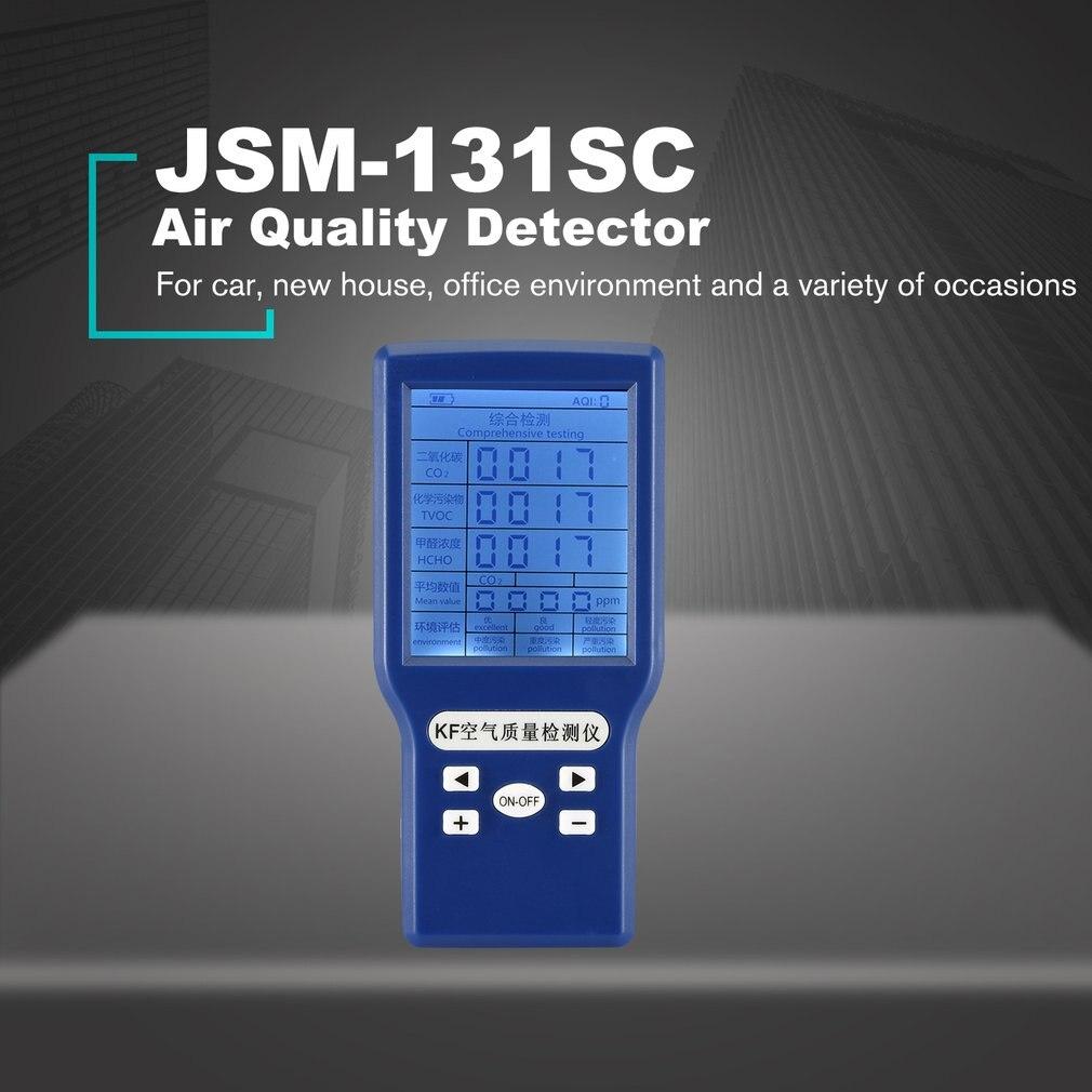 Portable Digital Air Quality Tester Formaldehyde Detector HCHO/TVOC/CO2 Gas Tester AQI Air Quality Monitor Analyzer Measuring