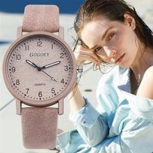 цена на GOGOEY Women Popular Retro Simple Digital Lady Quartz Watch Casual Fashion Quality Brand Woman Dress Wristwatch Gifts