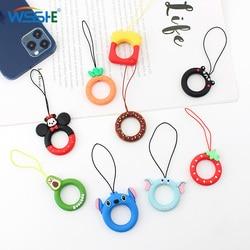 Lanière de téléphone mignon pour clés téléphones sangle pour iPhone airpods étui porte-clés anneaux accessoires de téléphone portable de bande dessinée