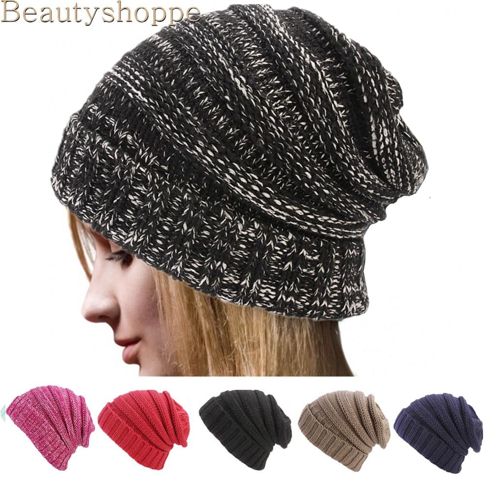 Women Men Wool Winter Warm Cap Crochet Warm Knit Knitted Beanie Ski Hat Fashion