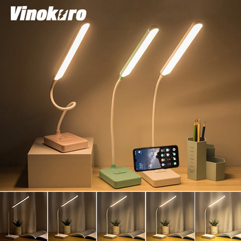 LED Table Lamp Touch Night Lamps Foldable Dimmable Eye Protection Desk Light USB Rechargeable Nightlight for Living Room.etc 2016 creative pyramid led night light lamp ac 100 240v 4w usb rechargeable led desk light touch dimmable table lamp