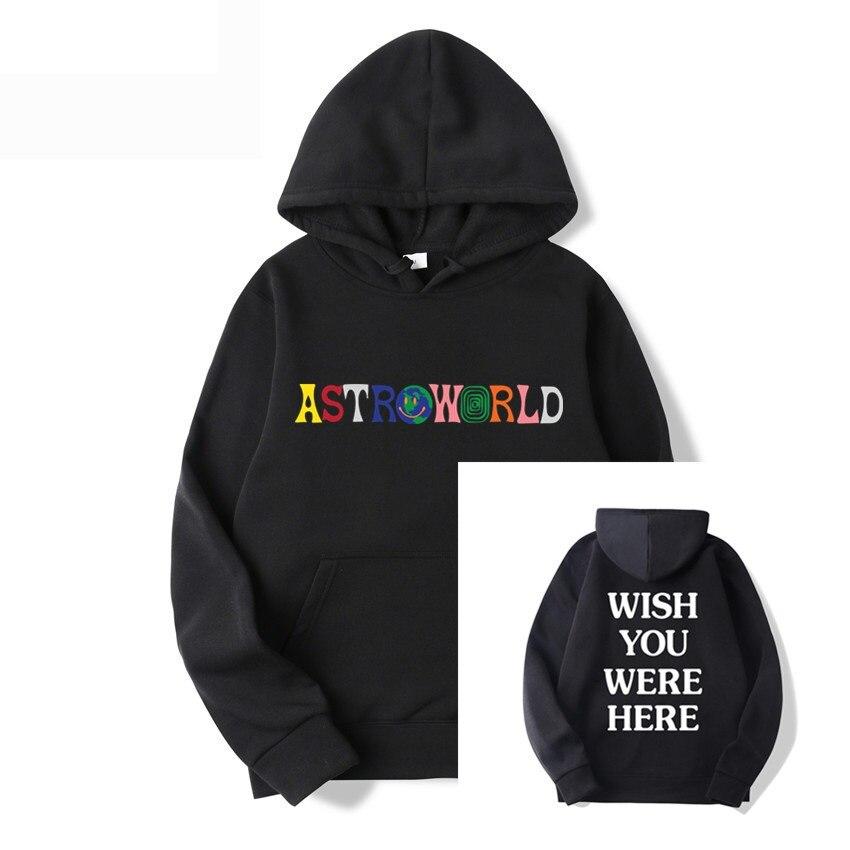 Толстовка с принтом Трэвиса Скотта Astroworld, толстовка с капюшоном с надписью «I Want To Astro World» и надписью «Wish You WAS Here», повседневная спортивная