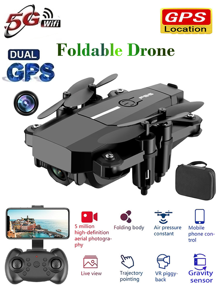 RC Drone with Camera HD WIFI Foldable Quadcopter Remote Control Helicopter Quadrocopter One-Key Return Kid's Toy