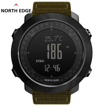 North Edge Mens Watches Sports Military Watch Digital Barometer Altimeter Compass Waterproof Apache 3 Men