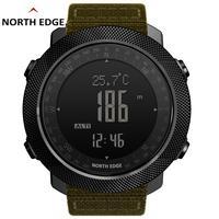 North Edge mężczyźni zegarki Sport wojskowy zegarek elektroniczny barometr wysokościomierz zegar mężczyźni kompas wodoodporny zegarek sportowe zegarki cyfrowe w Zegarki cyfrowe od Zegarki na