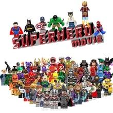 Фигура Мстителей Железный человек Тор Человек-паук Капитан Америка танос Бэтмен Marvel Супер Герои строительные блоки наборы игрушки для детей