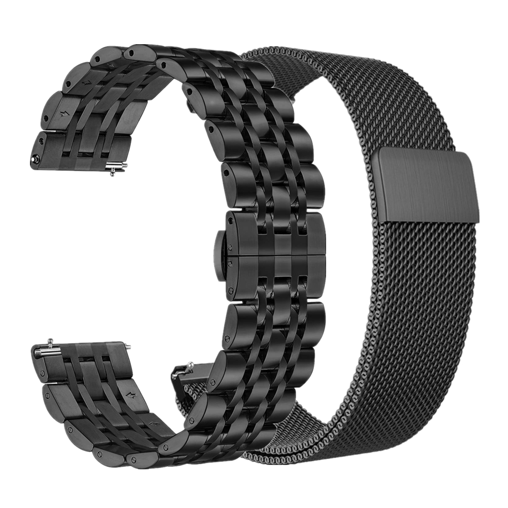 Watchband Set For Samsung Galaxy Watch Active2 44mm 40mm Bands 20mm 22mm Stainless Steel Galaxy Watch 46mm Bracelet Wrist Strap