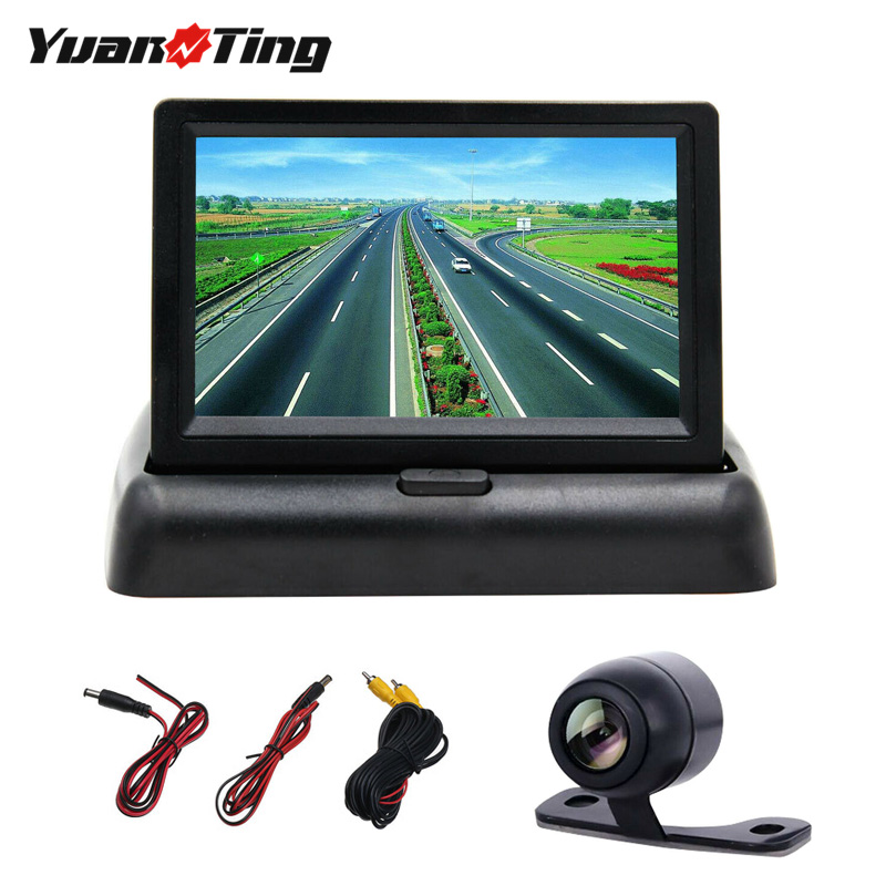 YuanTing Car Backup Camera Rear View HD Parking System Night Vision Waterproof Guide title=