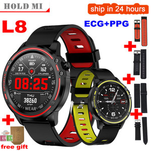 Image 1 - ECG PPG L8 Smart Watch Men IP68 Waterproof Reloj Sports Mode Smartwatch With Blood Pressure Heart Rate Fitness Watches
