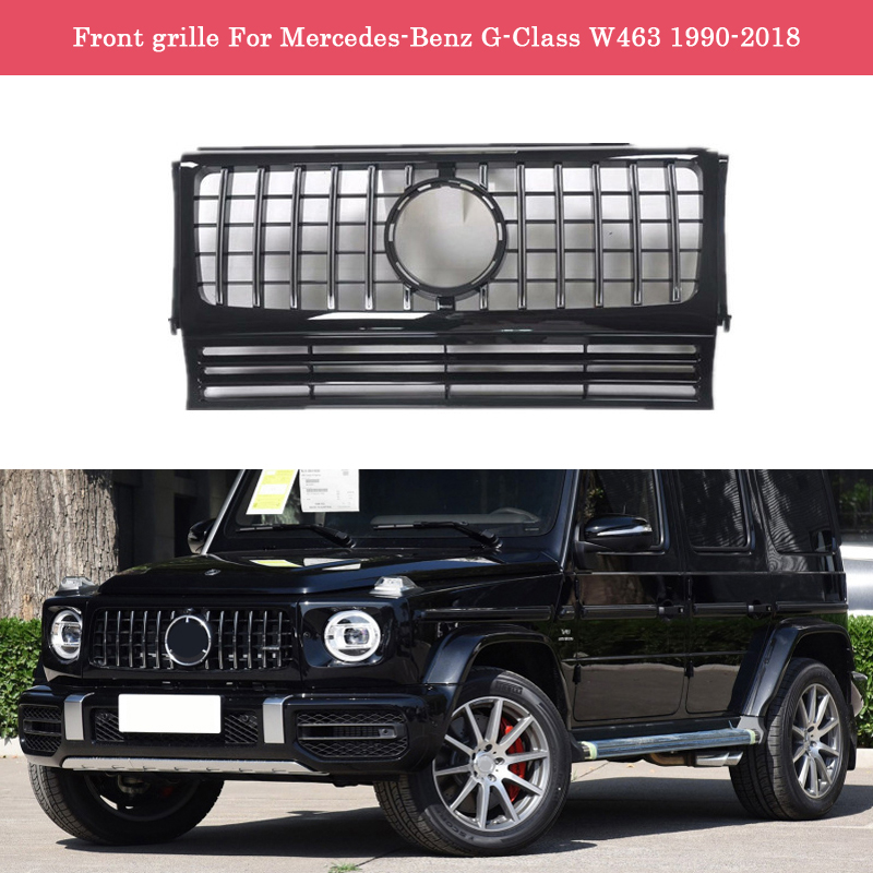 Car styling Middle grille for Mercedes-Benz G-Class G63 W463 ABS plastic front grille GT vertical bar G500 G55 G350d
