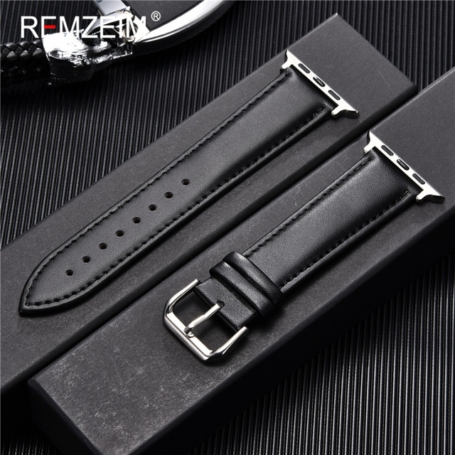Calfskin Genuine Leather Watchband 38mm 40mm for iwatch 1 2 3 4 5 Soft Material Replace Wrist Strap 42mm 44mm for Apple Watch 2
