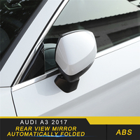 For Audi A3 2017 2019 Car Styling Replacement Rearview Mirror Covers Automatically Folded Exterior Auto Parts