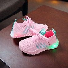 Baby Shoes 2019Top New Children Kid Baby Girls Boys Candy Color Led Luminous Sport Run Sneakers Shoes For Baby Sneakers