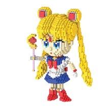 Bricks Blocks Diamond Sailor-Moon Magic-Friends Mini Soldier Educational-Toys DIY 9037