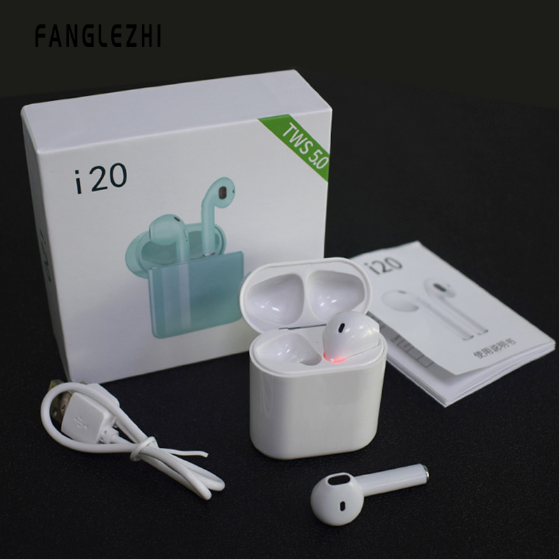 mi Earphones i20 <font><b>tws</b></font> Touch control Wireless Bluetooth Earphones 5.0 3D <font><b>Super</b></font> Bass Headphones pk i10 i12 i77 <font><b>i30</b></font> i60 i80 i88 i100 image