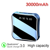 30000mAh Mini Power Bank 2USB Display a LED caricabatterie esterno portatile Powerbank Power Bank Mobile ad alta capacità s per telefono