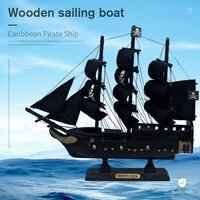 LUCKK-barco de vela de madera, barca en miniatura, regalo para niños, Perla Negra caribeña, Corsair, decoración para el hogar, SH775-24 artesanal