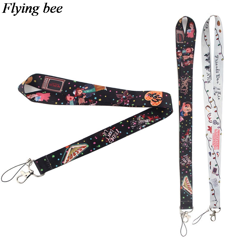 Flyingbee Weird Things Lanyard Phone Rope Keychains Phone Lanyard For Keys ID Card Cartoon Lanyards For Men Women X0382