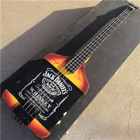 4 string electric bass guitar set neck and body free shipping