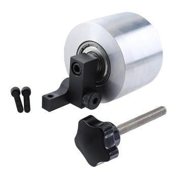 Rueda de amoladora de correa 68X50mm rodamiento 12mm de diámetro rueda de conducción para máquina de lijado rueda de contacto de aluminio