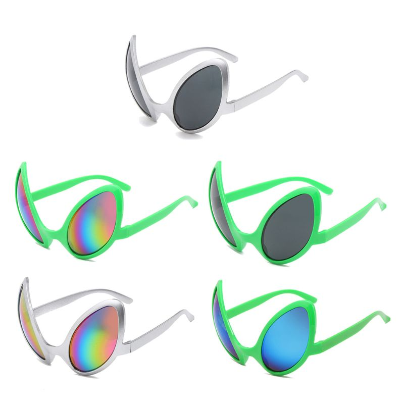 Funny Aliens Costume Glasses Rainbow Lenses ET Sunglasses Halloween Party Props Favors Accessories for Adults and Kid