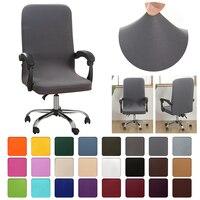 Neue Elastische Büro Spiel Computer Stuhl Abdeckung Moderne Anti-schmutzig Rotierenden Stuhl Sitz Fall Abnehmbare Verdickt Mit Armlehne Abdeckungen