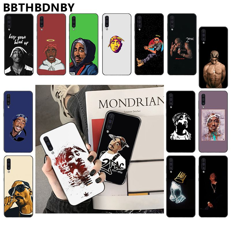 2pac tupac For Note 10 pro Telefoonhoesje Black Cover <font><b>Hoesje</b></font> for <font><b>Samsung</b></font> Note 3 4 5 7 8 9 10 pro A7 2018 A10 A40 A50 <font><b>A70</b></font> J7 2018 image