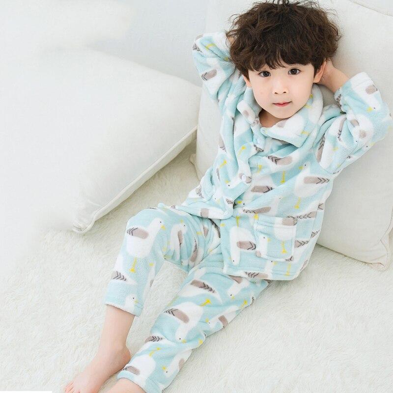 Детские пижамы; сезон осень зима; Детские фланелевые пижамы; Мягкие комплекты в Корейском стиле для маленьких мальчиков; пижамные комплекты