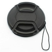 Black Universal Camera Lens Cap Cameras Protection Cover 58