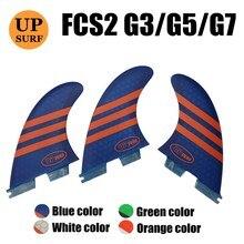 Surfboard fins fcs 2 G3/G5/G7 Surfboards FCSII Fin Honeycomb Fiberglass surf tri-fin set